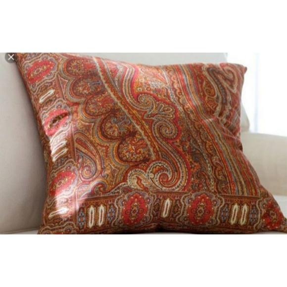 Pottery Barn Bedding Red Paisley Pillow Cover Poshmark